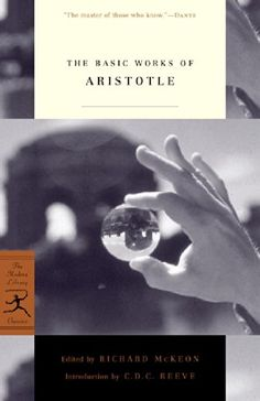 The Basic Works of Aristotle (Modern Library Classics) by Aristotle http://www.amazon.com/dp/0375757996/ref=cm_sw_r_pi_dp_FID-vb0K0V9X5