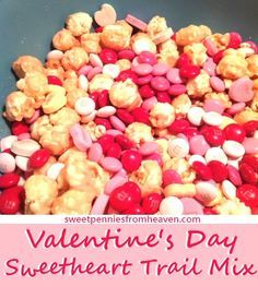 Thrifty & super easy idea for kids' treat bags for Valentine's Day! Try this SweetHeart Trail Mix!!