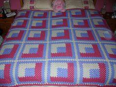 Ravelry: bevhillbilly's Warm & Cozy Log Cabin Afghan Quilt