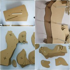 Sliced Woman Torso - Cardboard Sculpture, DIY Papercraft, paper art,Home Decor, Corrugated board ,DIY GiftA stunning work of art that changes color and look as you walk around it. You can see through the corrugations directly from the front. Cardboard Sculpture, Cardboard Paper, Cardboard Crafts, Cardboard Playhouse, Paper Clay, Diy Cardboard Furniture, Cardboard Design, Art Furniture, Furniture Design