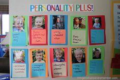 Personality Plus! Preschool Display - supporting social emotional development in the classroom. Getting to know our friends, appreciating individuality.