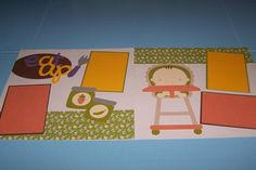 Hey, I found this really awesome Etsy listing at https://www.etsy.com/listing/267930071/babys-first-foods-scrapbook-layout