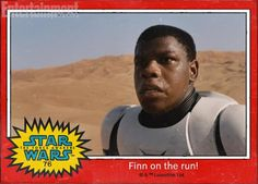 And the Stormtrooper on the run is Finn!  #TheForceAwakens
