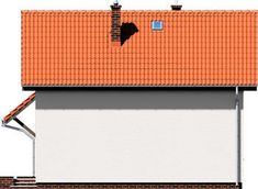 DOM.PL™ - Projekt domu ARD Stokrotka 1 CE - DOM RD1-42 - gotowy koszt budowy Small Wooden House, Dom, House Plans, How To Plan, Brick Homes, Blueprints For Homes, Home Plans, House Design, House Floor Plans