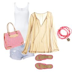 Pink and breezy for the beach #polyvore