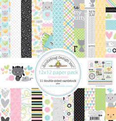 KITTEN SMITTEN - Doodlebug Design Inc Blog: Spring 2016 Sneak Peek: Kitten Smitten Collection #doodlebugdesign