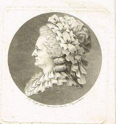 Tante de CHRETIEN - portrait au physionotrace par Chrétien (son neveu) - un des premiers portraits réalisés avec cette machine.