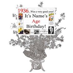 Birthday Customized Silver Star Centerpiece (Each) by Partypro Star Centerpieces, Party Tableware, Silver Stars, Program Design, 60th Birthday, Health And Beauty, Party Supplies, Learning, Image Link