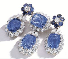 Platinum, diamond, and sapphire brooch by Van Cleef & Arpels, circa 1960.