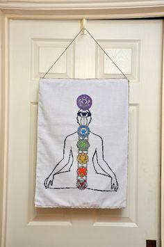 Chakra Diagram Cross Stitch [pic heavy] - NEEDLEWORK