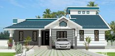 Single floor house plan designed to be built in 130 square meters Indian Home Design, My Home Design, Home Design Plans, Plan Design, House Design, Design Ideas, Three Bedroom House Plan, Building Elevation, Kerala Houses
