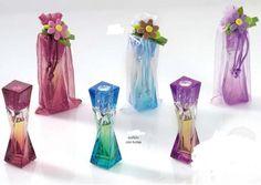 Frasco de cristal con perfumen