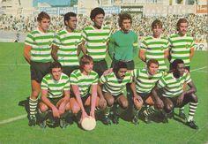 Sporting 73-74 Laranjeira,Manaca,Alhinho,Damas,Fraguito,Carlos Pereira Tomé,Yazalde,Nelson,Marinho,Diniz.