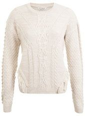 Blush Cable Fringe Jumper