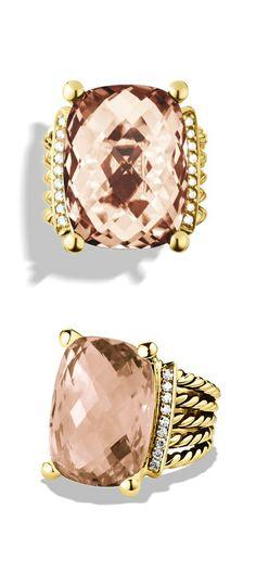 Morganite and Diamonds Ring