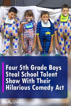 Four Grade Boys Steal the Talent Show Spotlight With Their Ingenious Comedy Act Funny Kids, Cute Kids, Kids Talent, Comedy Acts, Funny Jokes, Hilarious, Redneck Girl, Shows, Great Videos