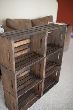 crate bookcase / record shelves