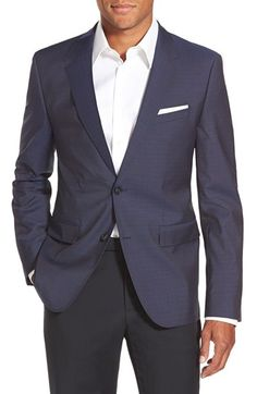 HUGO 'Aeris' Extra Trim Fit Check Wool Suit (Online Only)