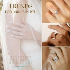 By now we're all very aware that nothing, not even a global pandemic, can stop love! And it certainly hasn't put a stop to engagement season! Wedding Rings, Engagement Rings, Bride, Jewelry, Enagement Rings, Wedding Bride, Jewlery, Bridal, Jewerly