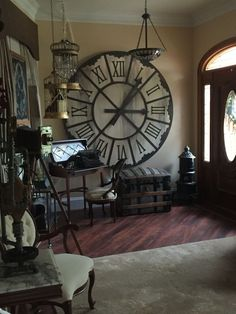 Our new steampunk living room, still a work in progress.                                                                                                                                                                                 More