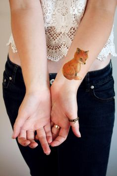 Cute little fox temporary tattoo by Tattoorary on Etsy https://www.etsy.com/listing/184657469/cute-little-fox-temporary-tattoo