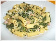 Pasta fredda con spinaci prosciutto cotto e scamorza    #recipe  #juliesoissons