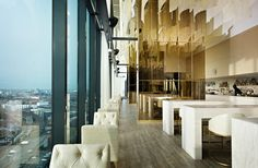 Offering spectacular views across the city of Manchester, the Cloud 23 Restaurant in the Hilton takes diners high above the busy city to enjoy their meals.