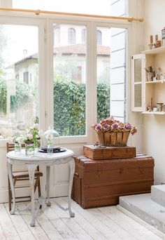 Heather Bullard is a California based editorial prop stylist and creative director helping brands create breathtaking visuals for print and digital media. Shabby Chic Furniture, Painted Furniture, Painted Wood, Hotel Airbnb, White Cottage, Home Upgrades, Sims House, French Country Decorating, Teak