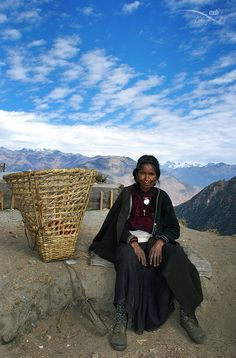 Cotton-candy in the sky..when happiness is the state of mind by Mohan Duwal. Apple seller at Talcha airport in Rara National Park in the Mugu District of Nepal.