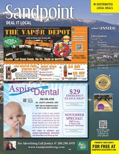 November 2014 Sandpoint Deal It Local | Sandpoint, Idaho | www.sandpointliving.com