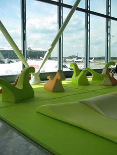 Kid's area at Heathrow Airport by ZPZ Partners