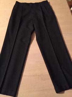L.L.Bean Pleated Dark Charcoal Gray Men's Wool Dress Pants Size 32 X 30 Mint! #LLBean #ClassicStraightLeg