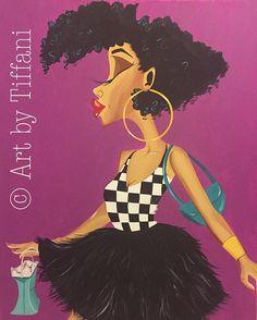 Black Art Sophisticated 24x30 in. Original Art by ArtbyTiffani