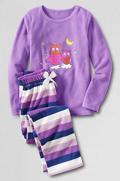 Girl's Fleece Pajama Set from Lands' End