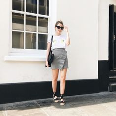 it's fuckin boiling also. Ph. @hannahlouisef #ootd #wiwt #fbloggers #babesofmissguided #missguided