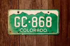 Colorado License Plate Number GC868