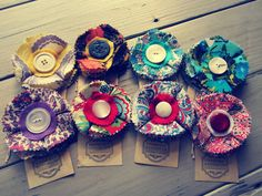 vintage fabric brooches