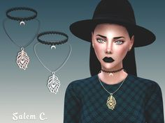 Salem C. — Plume Necklace (TS4) standalone 10 swatches mesh...