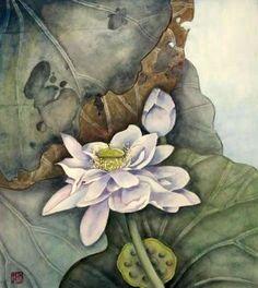 Chinese Lotus painting.