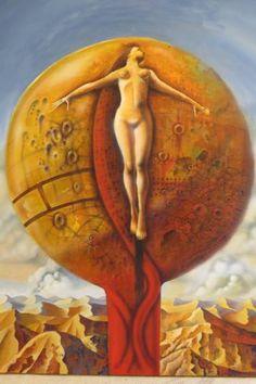 "Saatchi Art Artist Ruben Cukier; Painting, ""Crucified"" #art"