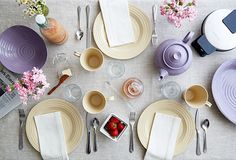 Pretty pastels on the table...