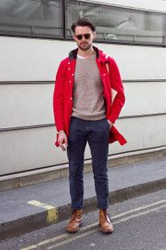 Bright campy jacket to add to nice sweater and slacks