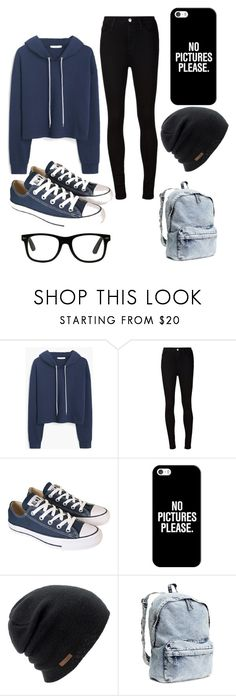 """""""Casual yet cute outfit for fall."""" by liyaalston ❤ liked on Polyvore featuring MANGO, AG Adriano Goldschmied, Converse, Casetify, Coal and H&M"""