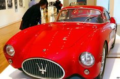 Beautiful engineering from a master company - and one of my favourite cars. #Maserati A6GCS Berlinetta Pininfarina during an exhibition of Italian sports car #Ferrari and #Maserati at the Tokyo Contemporary Art Museum