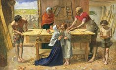 Christ in the House of His Parents ('The Carpenter's Shop') by Sir John Everett Millais