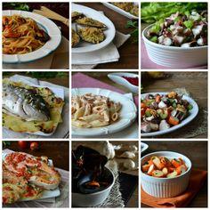 Menù di pesce per la Vigilia Italian Christmas, Antipasto, Dolce, Buffet, Breakfast Recipes, Seafood, Cabbage, Pasta, Food And Drink