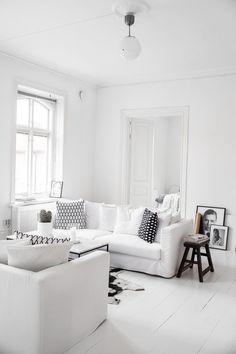 Monochrome black white interior style styling stylist home house design design decor Scandic minimal minimalist