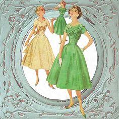 1950s Vtg SIMPLICITY Sewing Pattern Cocktail Party Dress Princess Seams 16/36. $52.00, via Etsy.