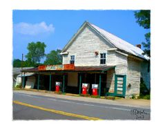 Old country store, Tigerville, SC - When I was a little girl, my brother and I used to get ice cream from this store!