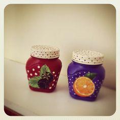 glass jars painting / cam kavanoz boyama